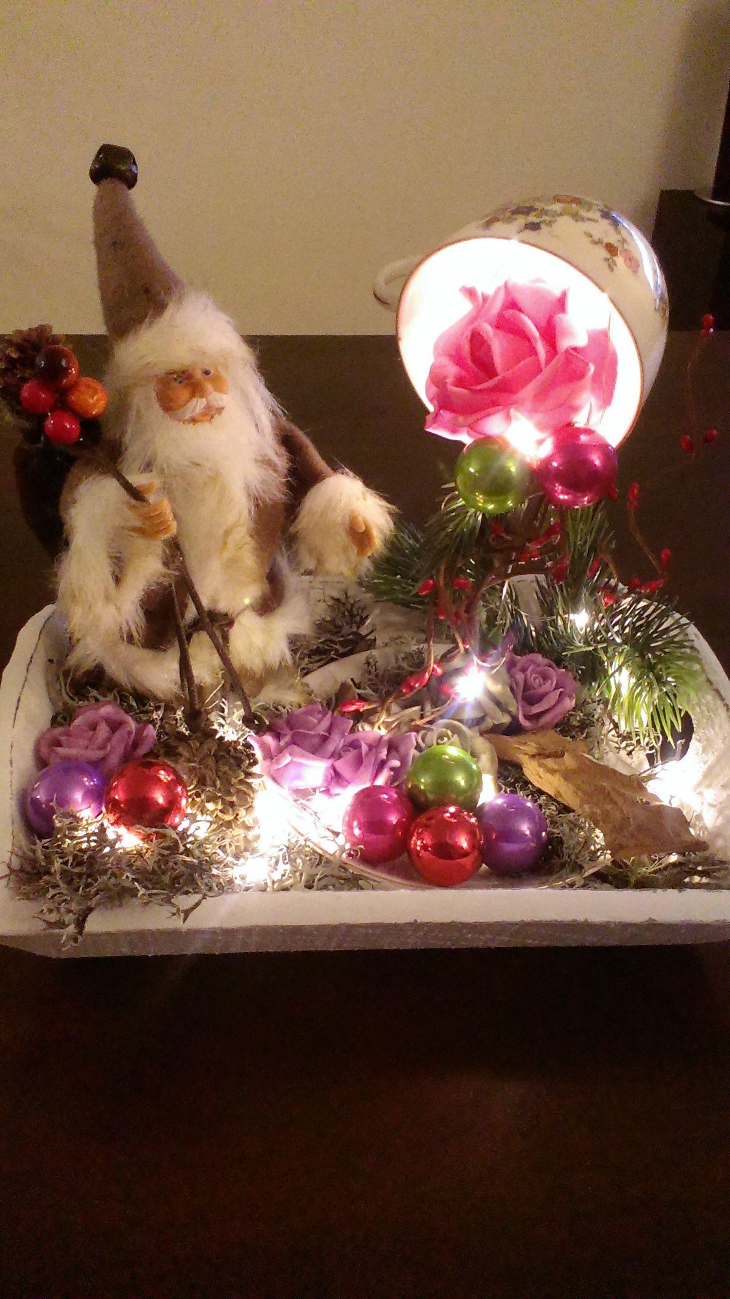 kerst zweevend kopje verlichting