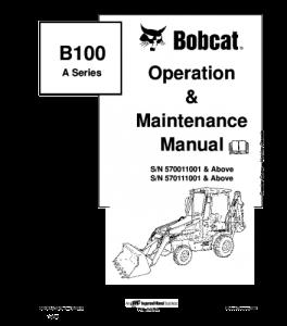 Best download bobcat 100ba series backhoe loader operation
