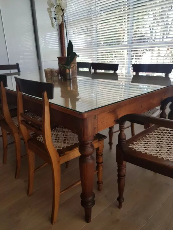Cape Regency Yellow Wood Stink Wood Dining Room Set Sandton