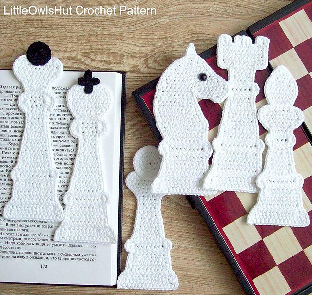 Ravelry: 077 Chess 6 bookmarks pattern by LittleOwlsHut