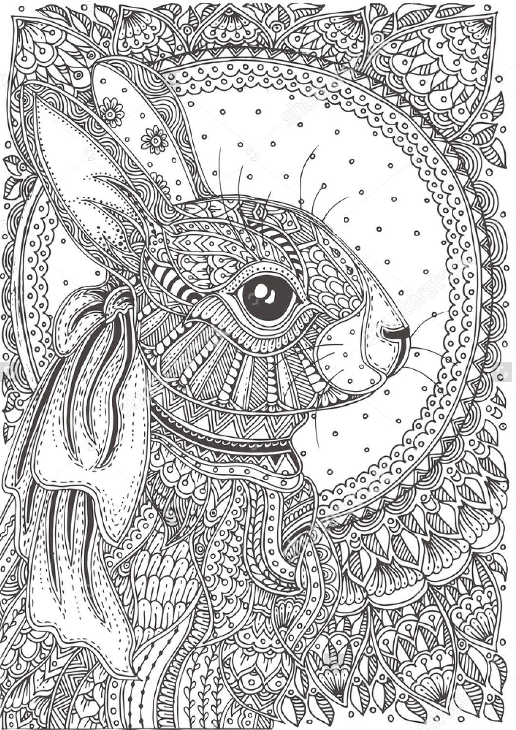 Easter Image By Sharon Bunny Coloring Pages Pattern Coloring