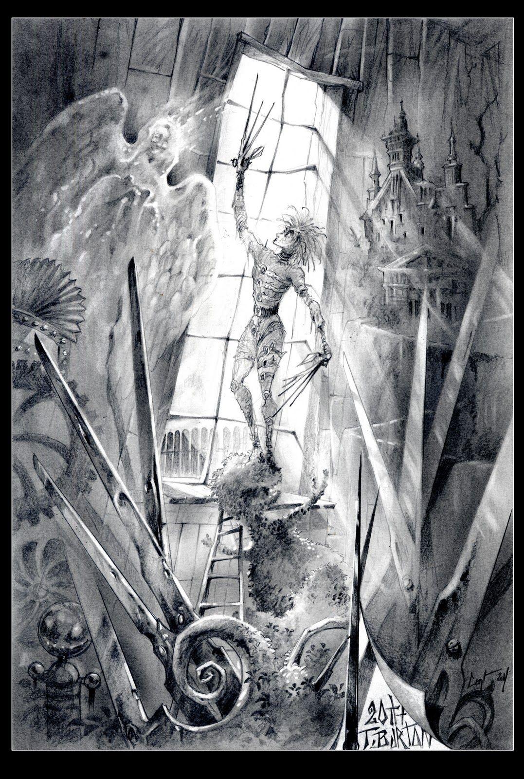 Edward Scissorhands artwork.