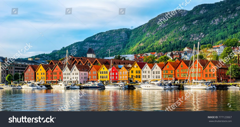 Bergen Norway View Of Historical Buildings In Bryggen Hanseatic Wharf In Bergen Norway Unesco World Heritage Sit Cruise Europe Norway Travel Bergen Norway