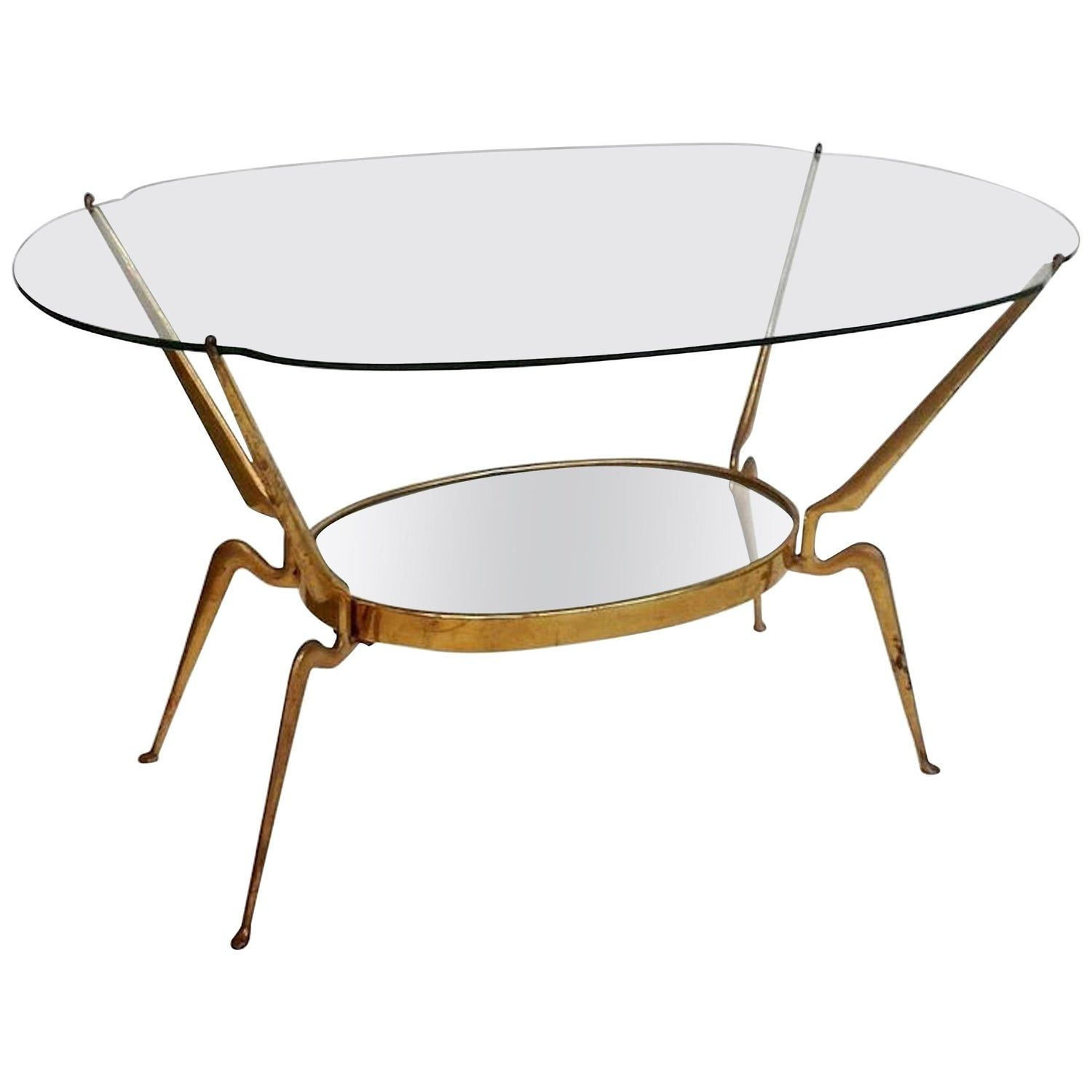 Brass Glass Coffee Table By Cesare Lacca Italy Mid Century Modern 1950s Glass Coffee Table Coffee Table Oval Glass Coffee Table [ 1500 x 1500 Pixel ]
