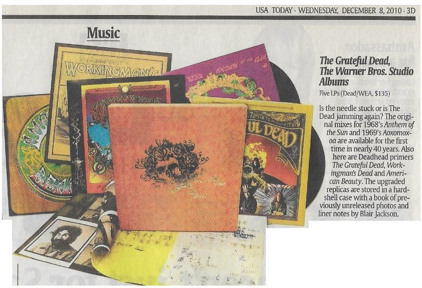 Grateful Dead The Warner Bros Studio Albums Newspaper Review