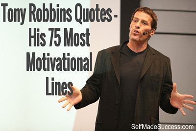 Tony Robbins Quotes - His 75 Most Motivational Lines   #quotes #personaldevelopment: