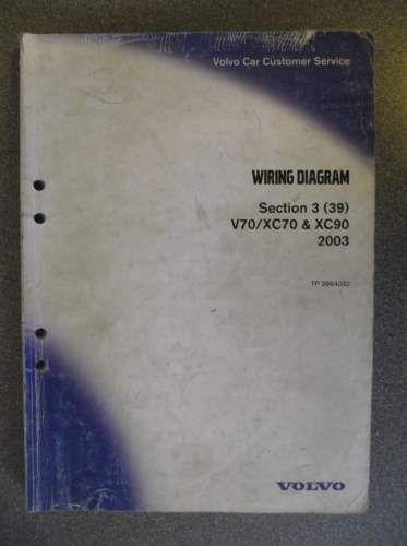 Volvo VX70 XC70 XC90 Wiring Diagrams Manual 2003 TP3964032 ... on volvo xc90 bcm location, volvo xc90 air conditioning, volvo xc90 exploded view, volvo xc90 fuel tank, volvo xc90 adjustment, volvo s80 wiring diagram, volvo xc90 horn, volvo xc90 brakes, volvo xc90 water pump, volvo xc90 suspension diagram, volvo xc90 starter, volvo xc90 thermostat diagram, volvo xc90 control panel, volvo amazon wiring diagram, volvo vnl wiring diagram, volvo s40 wiring diagram, volvo 940 wiring diagram, volvo xc90 fuse diagram, volvo 240 wiring diagram, volvo xc90 hvac diagram,