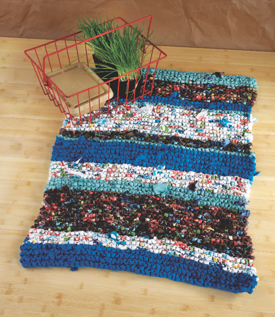 Diy Knitted Rag Rug Textile Recycling Knit Crochet Patterns