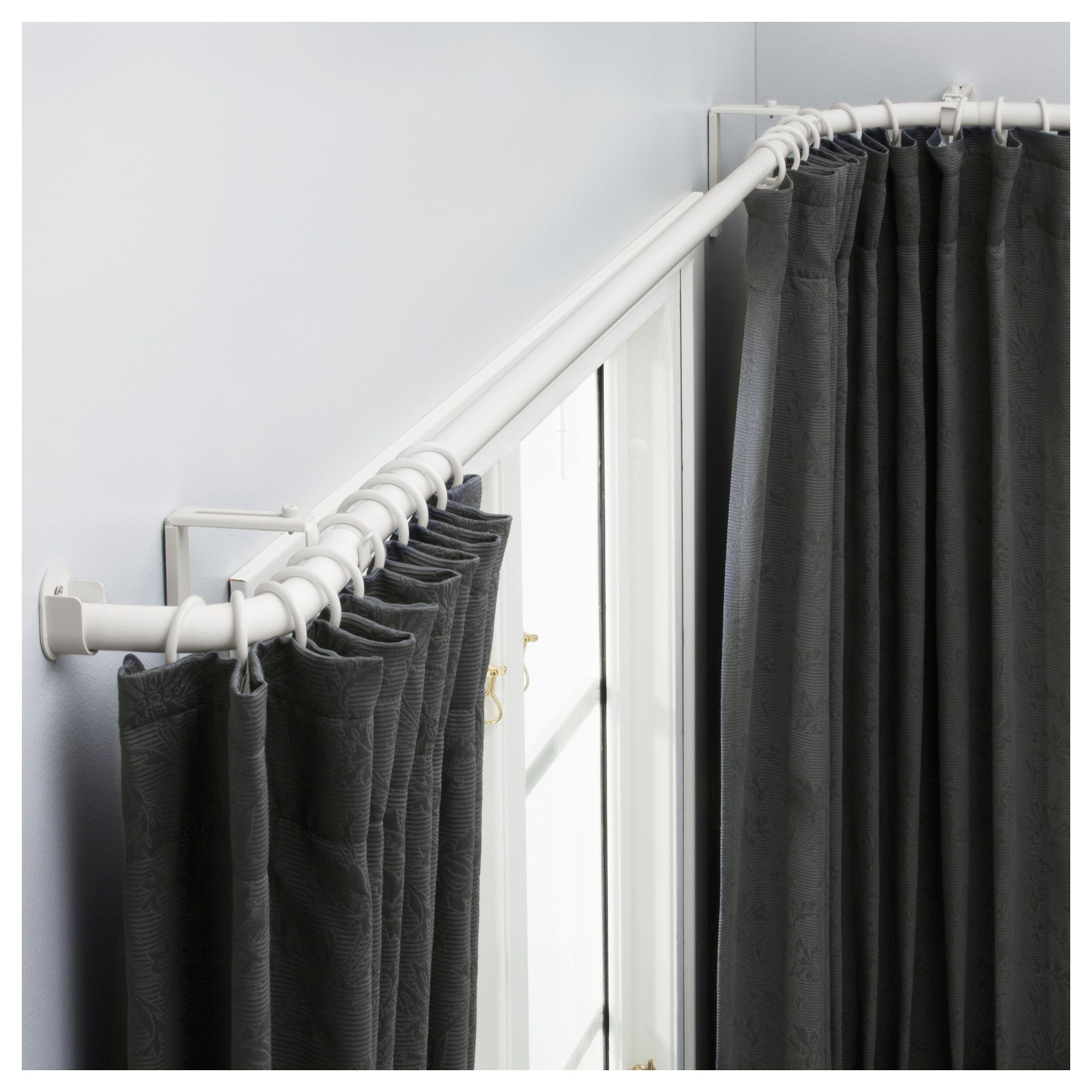 curtain rods corner window curtains