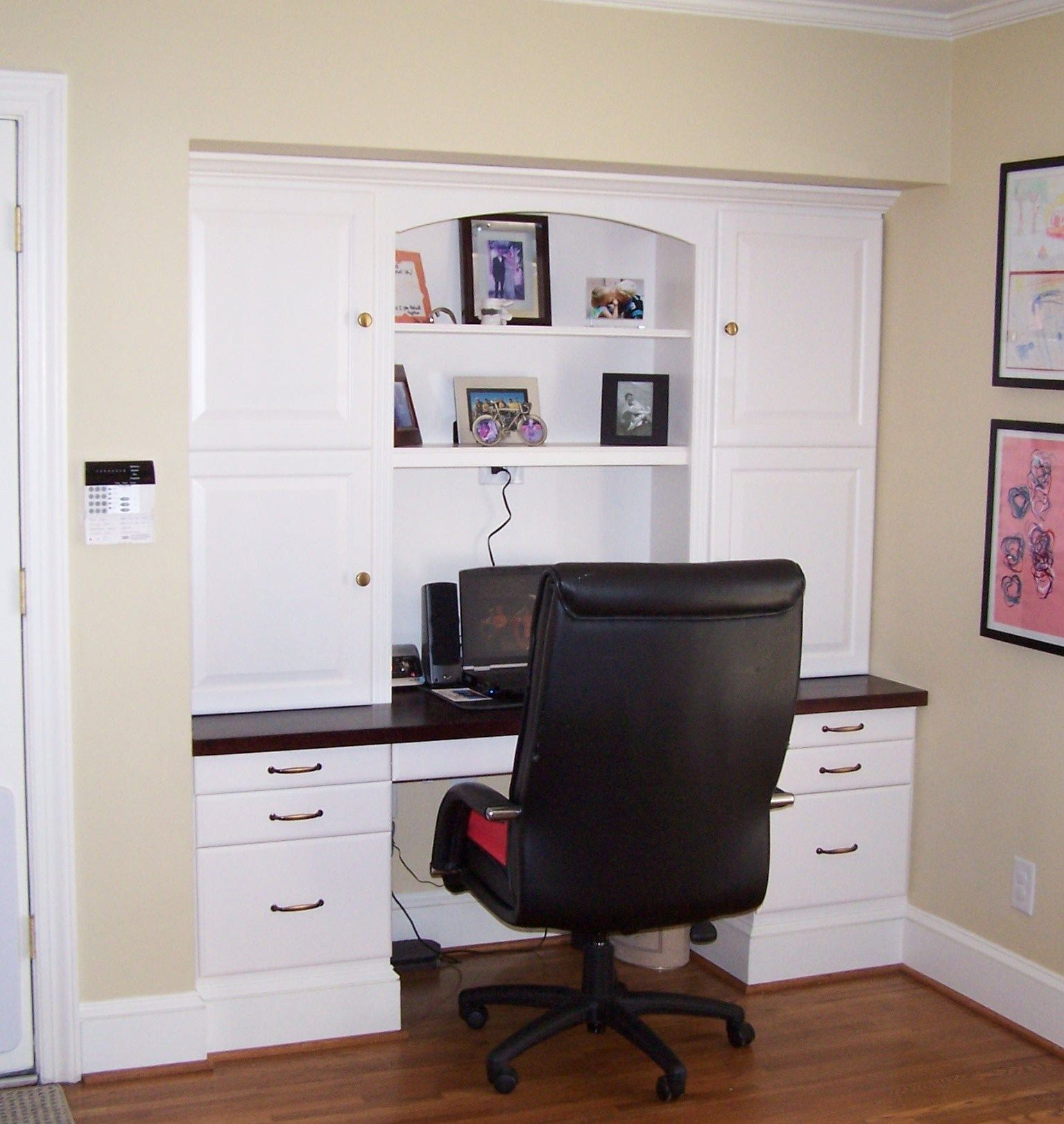 Built in desk get all the organizational space without Built in desk