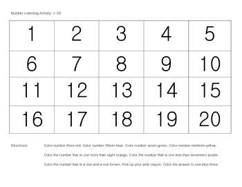 math worksheet : 1000 images about assessments on pinterest  assessment  : Kindergarten Number Worksheets 1 20