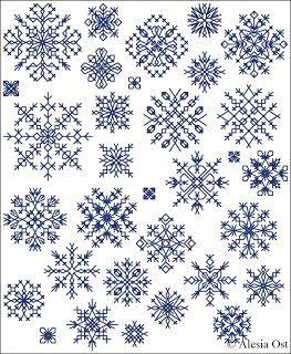 X Stitch Magic Inimitable Snowflakes Blackwork Cross Stitch Cross Stitch Patterns Christmas Snowflake Cross Stitch