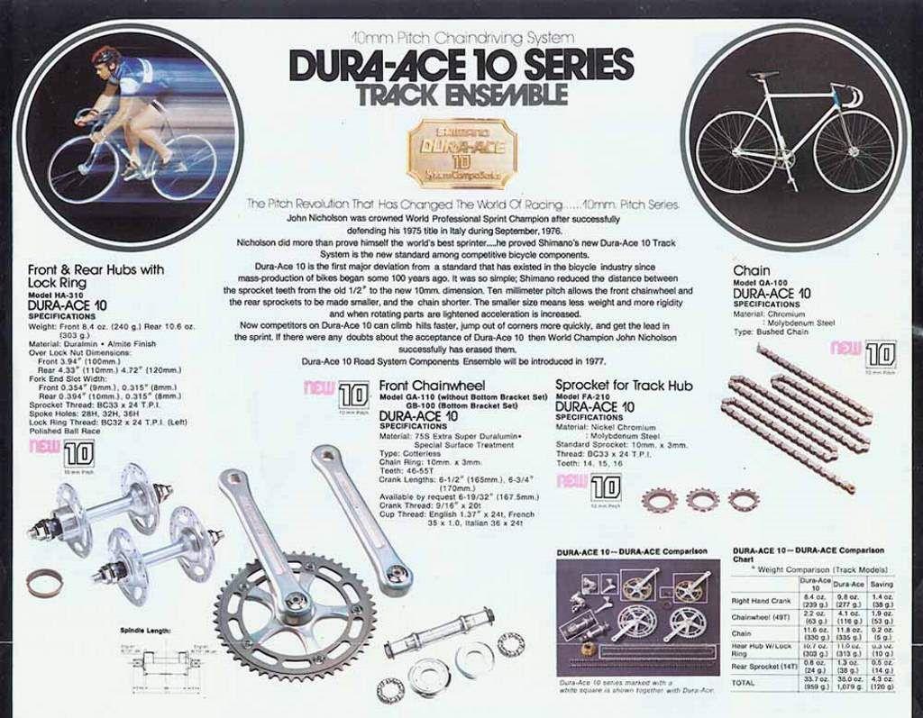 Dura Ace 10 Series Catalogue Cycle Parts History Cycling