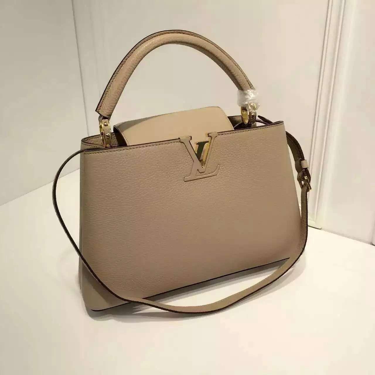 Louis Vuitton Grained Calfskin Multicolor Capucines PM Bag Apricot ... 7d752c7f1b