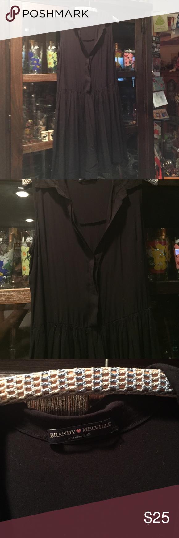 Brandy Melville black dress Brandy Melville Darling black dress one size Brandy Melville Dresses Mini