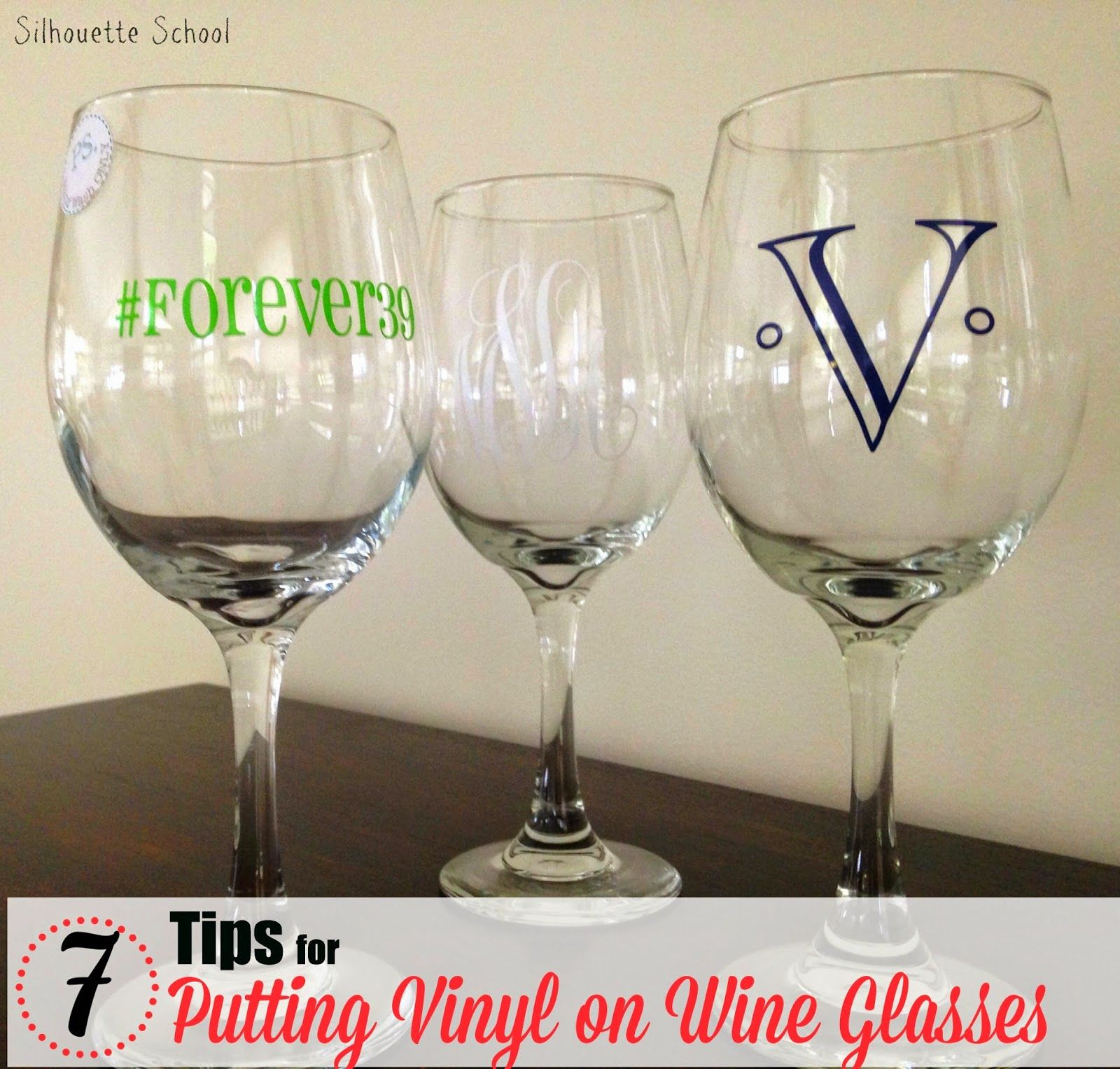 Putting Vinyl On Wine Glasses Tips For Success Silhouette - Custom vinyl decals for wine glasses