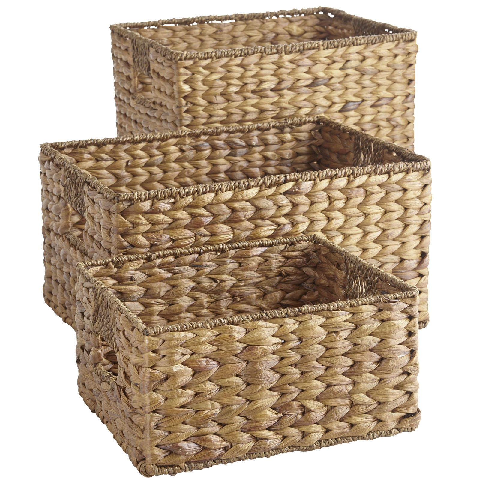 Home And Office Storage That Isn T Made Of Plastic Refreshing These Storage Baskets Are Shelf Baskets Storage Bathroom Basket Storage Wicker Baskets Storage