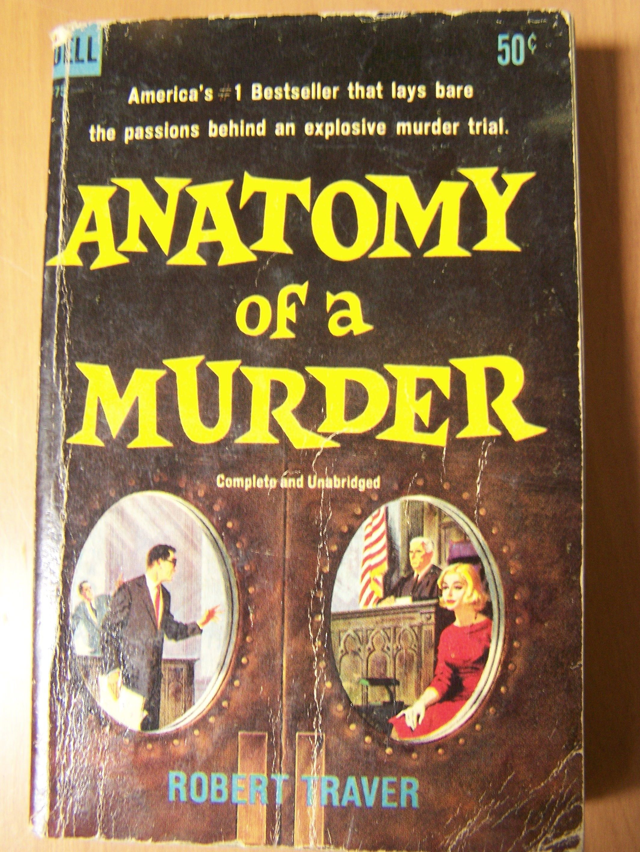 Vintage Book 1959 Edition Anatomy of a Murder by Robert Traver ...