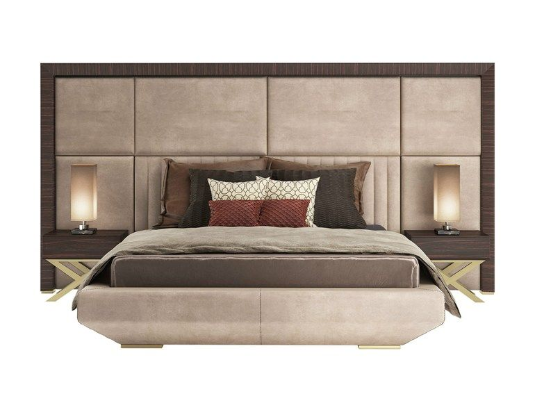 Bed Headboard Designs Entrancing Double Bed With High Headboard Kimera  Capital Collection. Review