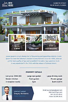 Real Estate Free Psd Flyer Template  Design By BestOfFlyers