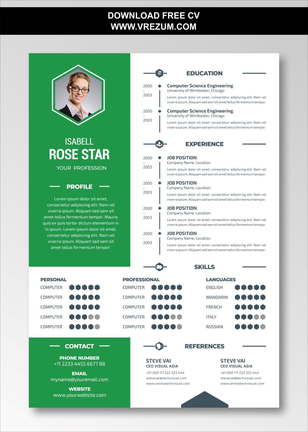 (EDITABLE) FREE CV Templates For Document Controller in