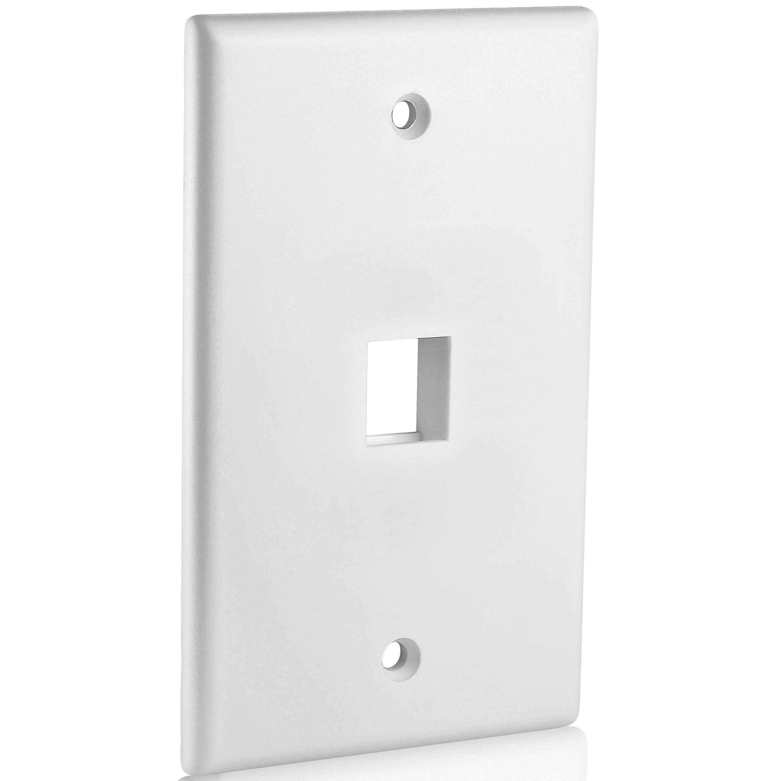 Mediabridge Keystone Wall Plate 1 Port White 5 Pack Part 51w 101 5pk Check Out The Image By Visiting In 2020 Keystone Wall Plates On Wall Light Accessories