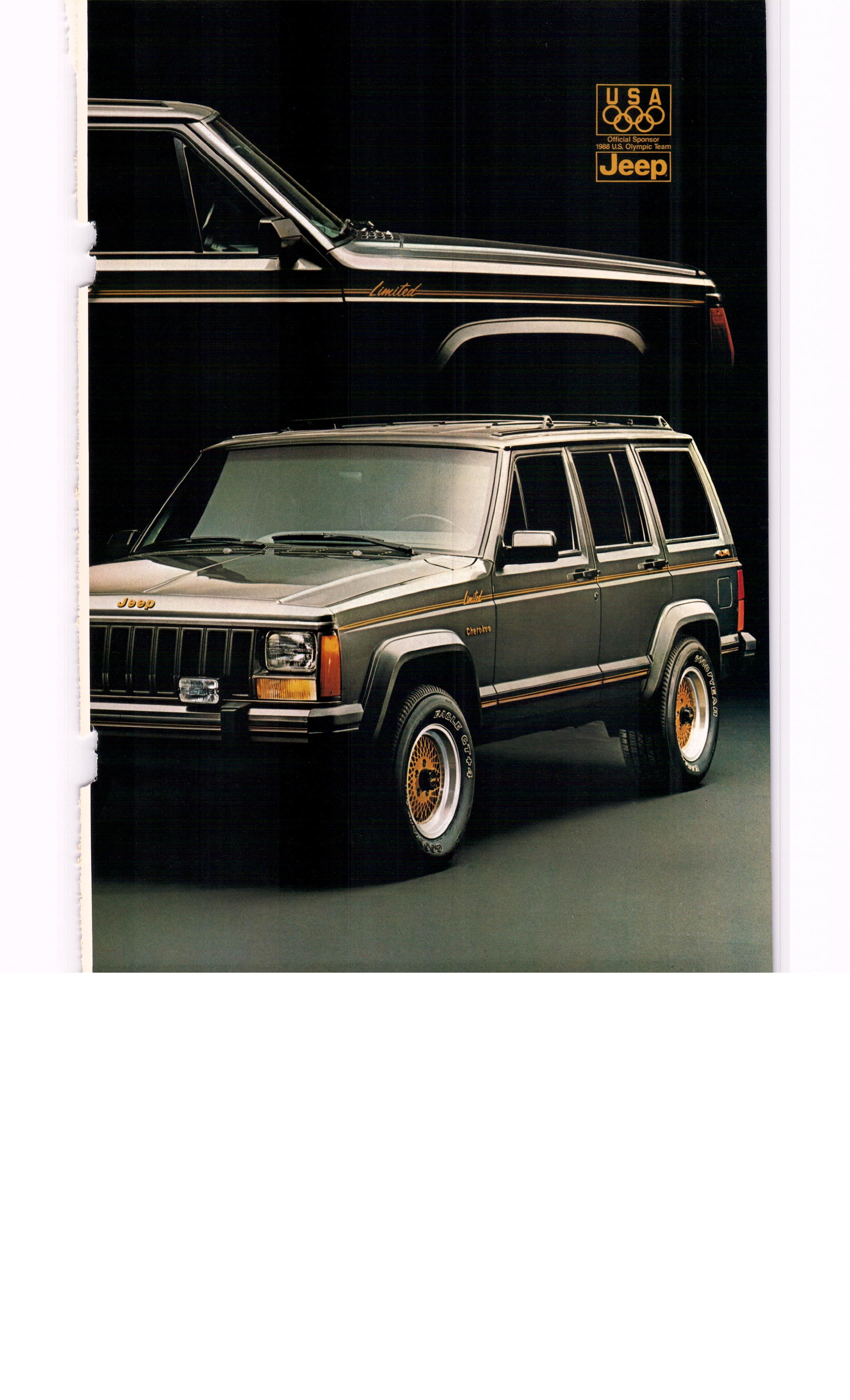 1987 Jeep Cherokee Limited Ad2 National Geographic August 1987
