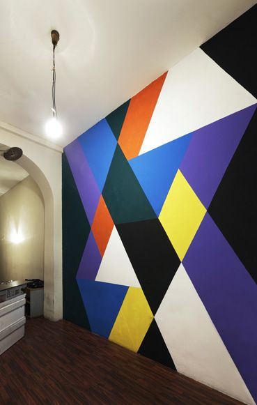 Cool geo wall painting Wall Decore Pinterest Déco