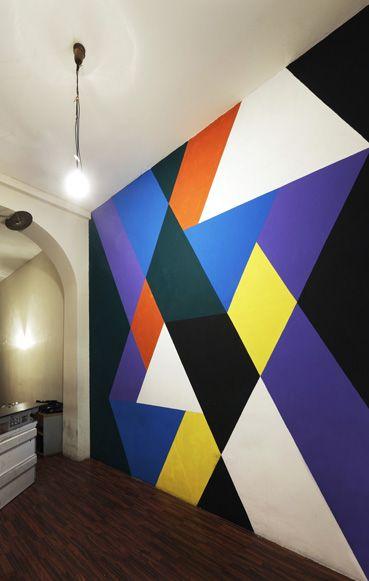 Akimbo akimblog berlin geometric pattern colour and - Geometric wall designs with paint ...