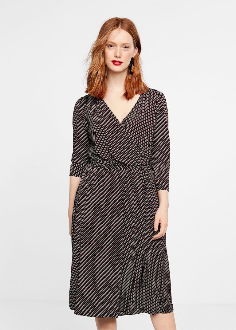 Gestreiftes wickelkleid - Große größen | Kleider mode ...