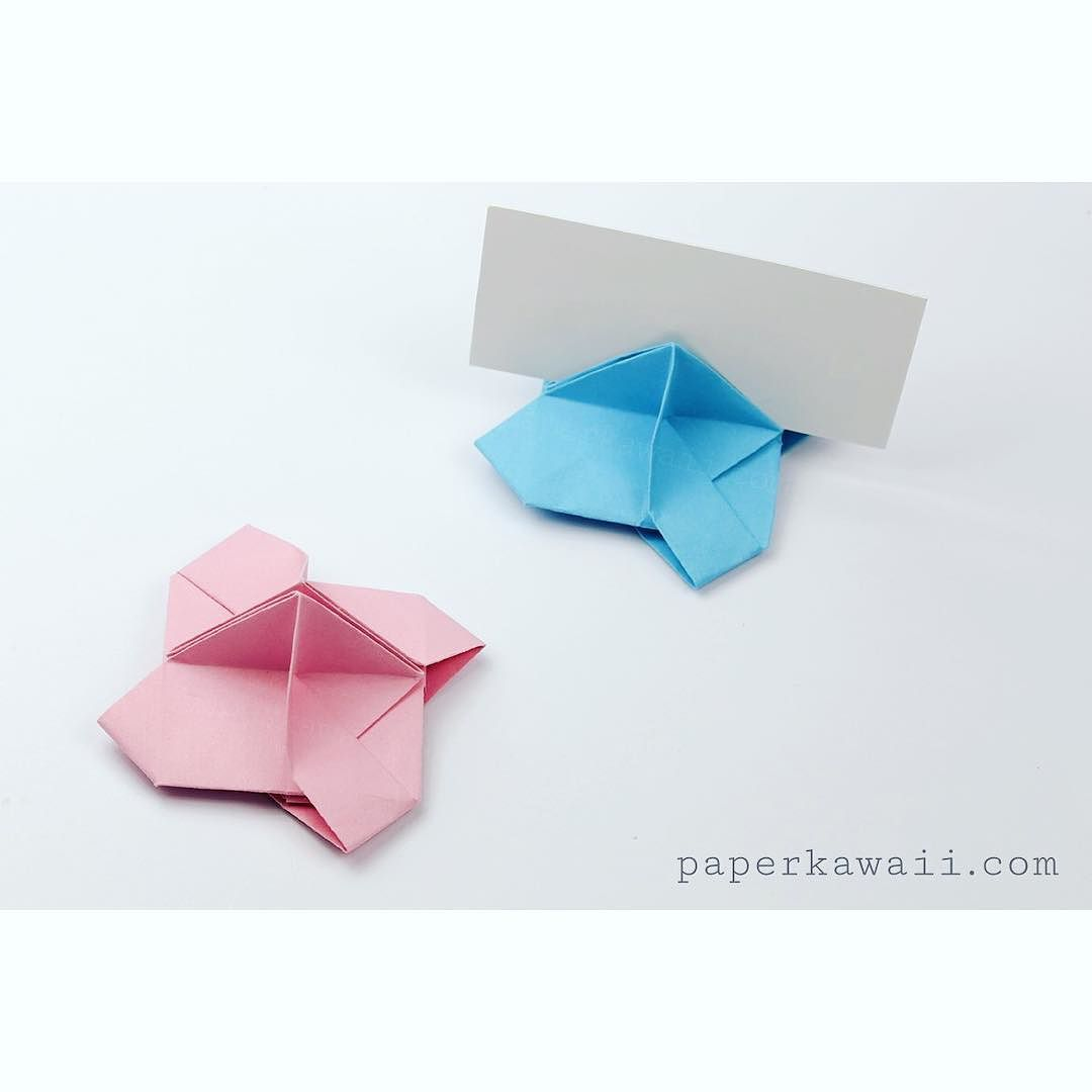 Origami place card holder tutorial httpsyoutuq30pypyh4wq learn how to make an origami card holder for weddings parties display place cards business cards name cards jeuxipadfo Gallery