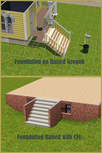 Sims Building House, How To Make A Walkout Basement Sims 3