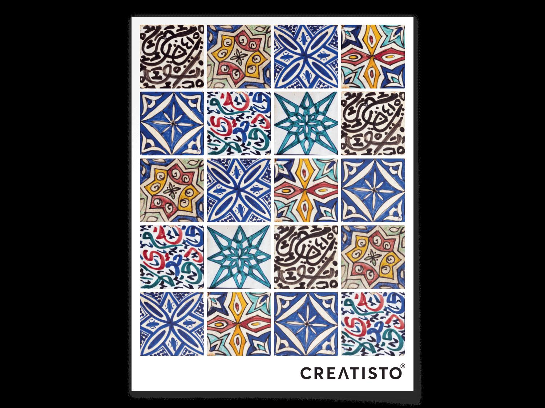 Dieser Zusammenschnitt Mediterraner Muster Und Farben Sorgt Für  Urlaubsstimmung In Bad Oder Küche. Die Handgemalte Optik Der Spanischen  Fliesen Veru2026