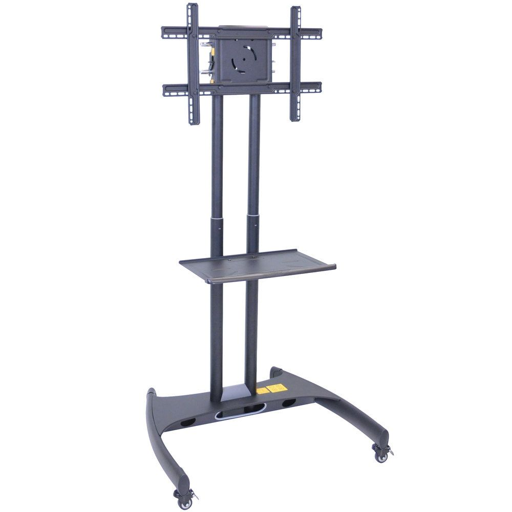 Best Luxor Fp2500 Adjustable Height Tv Cart With Shelf For 40 400 x 300