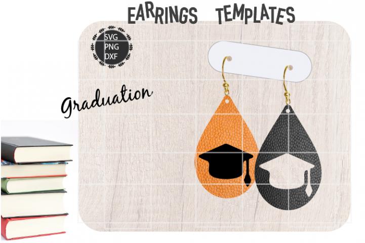 Earrings Template Graduation Hat Earrings Svg Graduation Hat Templates Svg