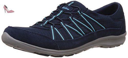 Skechers Dreamchaser Romantic Trail, Sneakers Basses Femme, Bleu (Marine/Turquoise), 35 EU (2 UK)