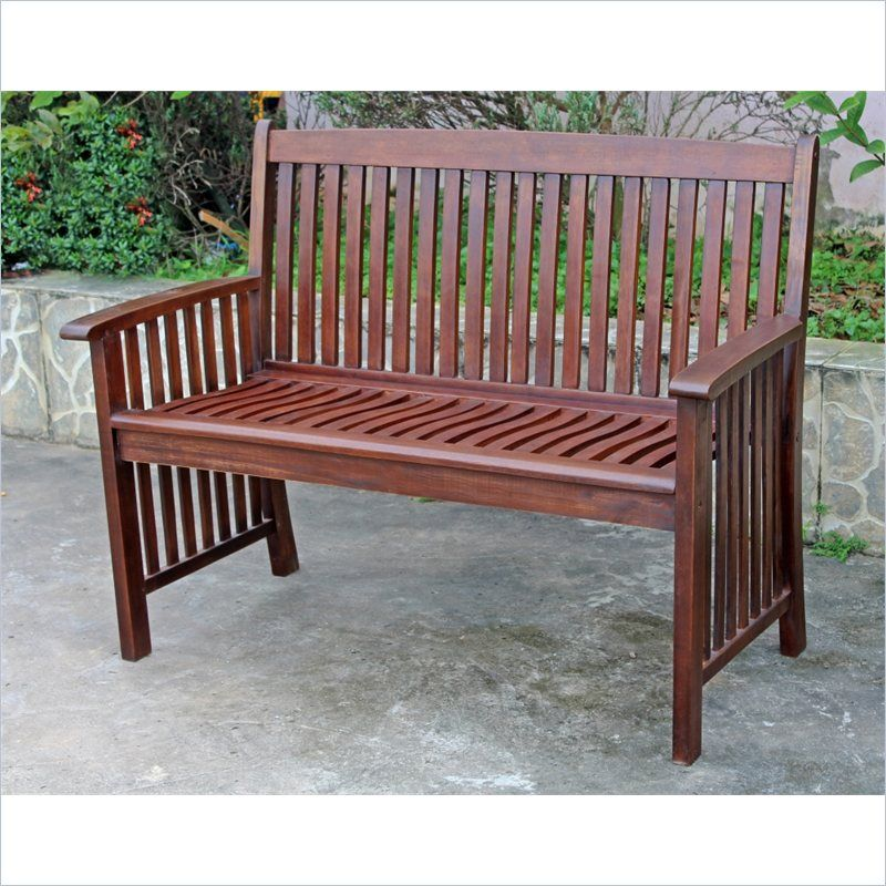 Outstanding Acacia Palmdale 2 Seater Patio Garden Bench Affordable Dailytribune Chair Design For Home Dailytribuneorg