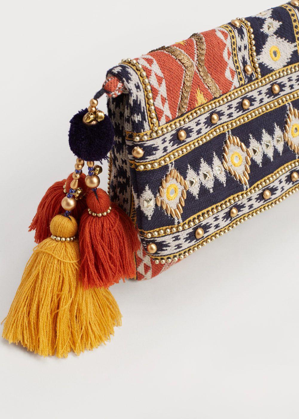 92d0c39cc Clutch étnico - Tamanhos grandes   Embroidery   Bags, Ethnic bag e ...