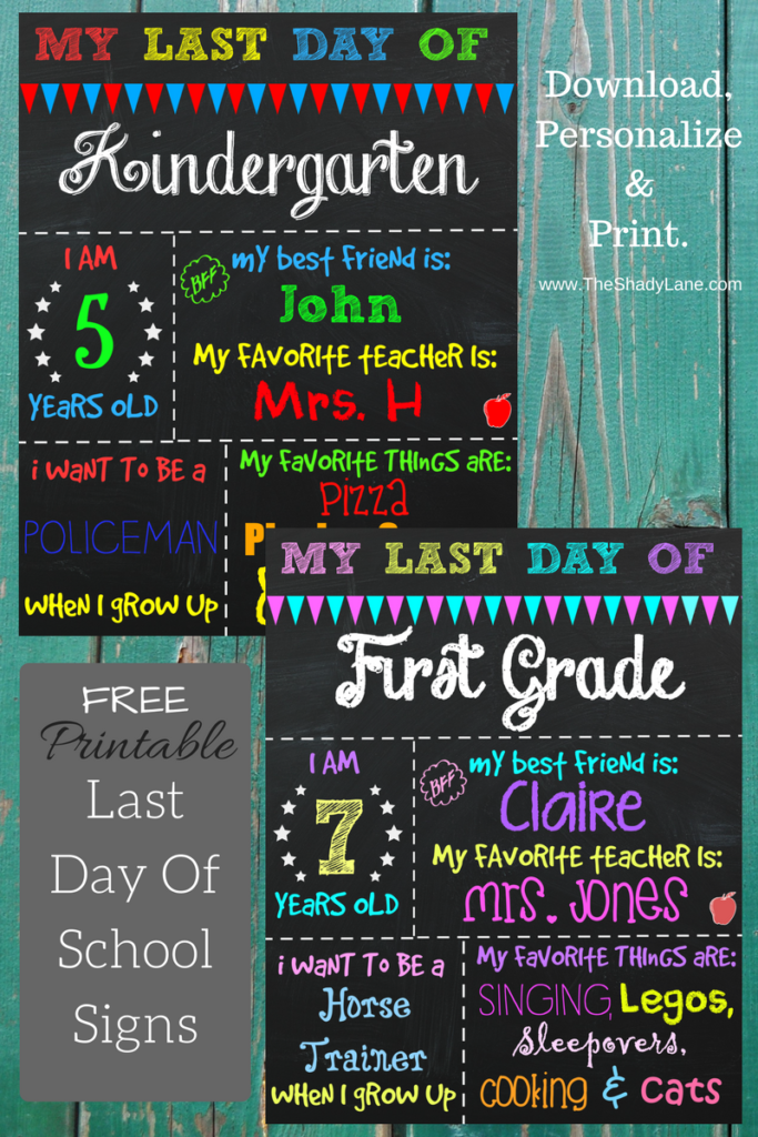 photo regarding Last Day of Kindergarten Printable titled Closing Working day of Faculty Printable Chalkboard Signal Picture Prop
