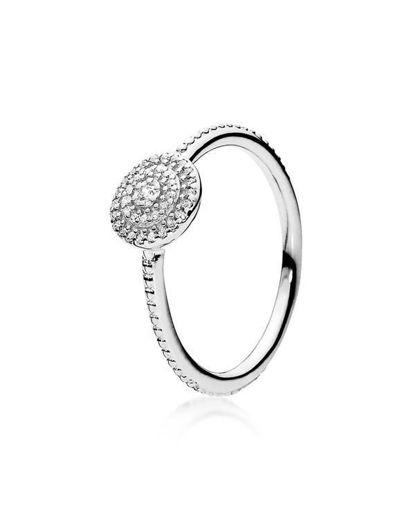 9e705ddb8 Pandora Ring - Sterling Silver & Cubic Zirconia Radiant Elegance ...