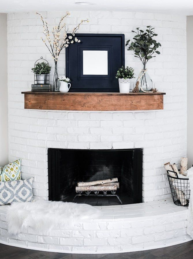 Modern Farmhouse Summer Mantel Decorating Ideas - Joyful Derivatives