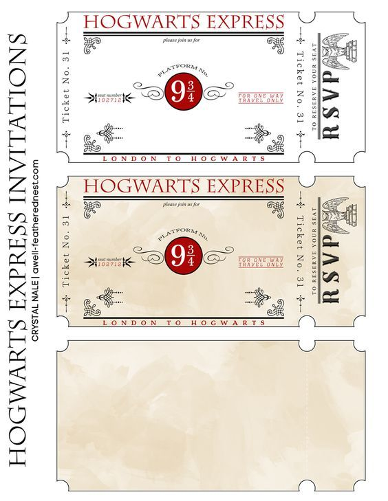 Tickets Invites Poudlard Express Magic In 2019 Harry Potter