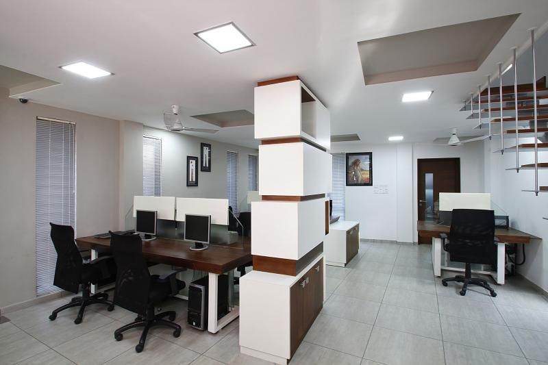 Our projects of office interiors to hire us call at 9892343410