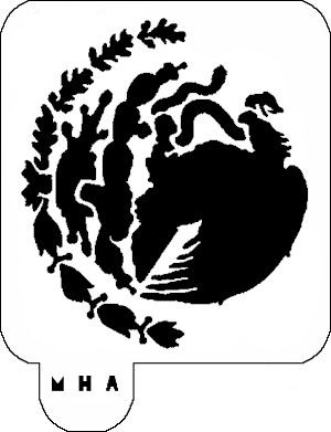 Mr Hair Art Stencil Mexico Flag Emblem Hair Art Art