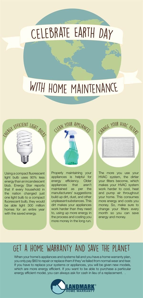 How can home maintenance save the planet? Here are three suggestions that can help you go green this Earth Day. :)