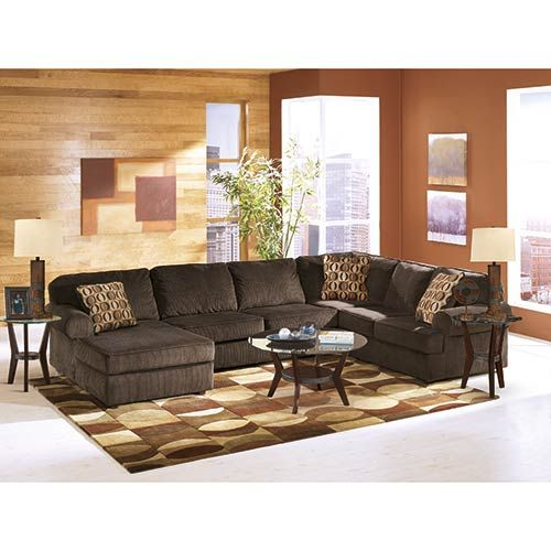 The Vista Chocolate 3 Piece Sectional Is A Little Piece Of
