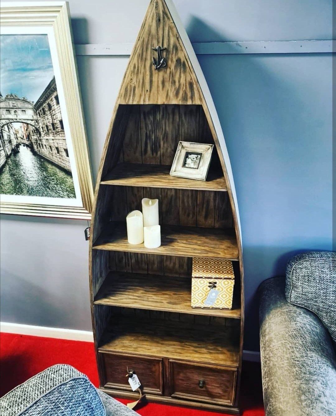 This unique bookcase would make an ideal addition to any