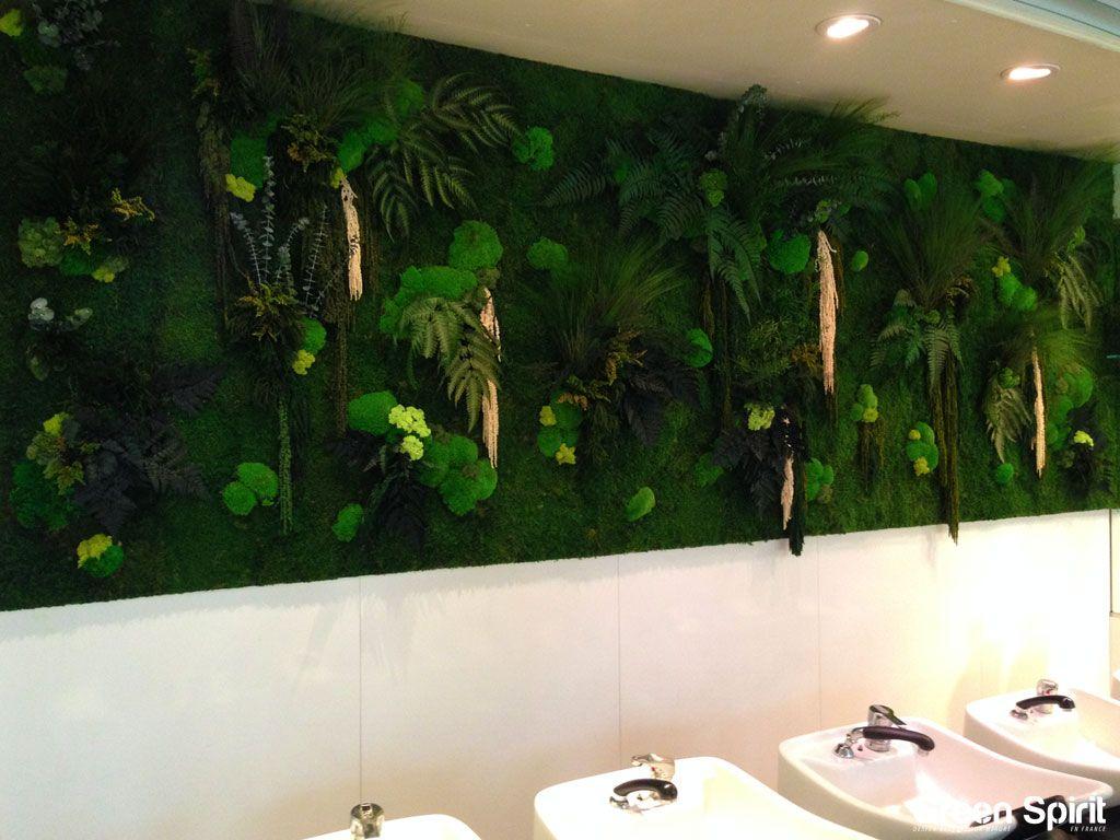Green Spirit Mur Végétal Stabilisé Salon De Coiffure