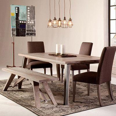 Saloom Furniture Dartmouth Dining Table Finish Fieldstone Oak Wb