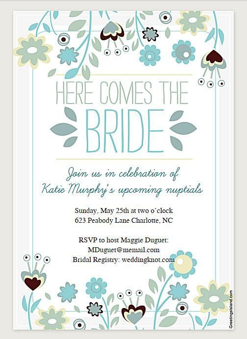 Free Bridal Shower Invitations Templates Here Are Some Bridal Shower Templates That You Won't Believe Are .